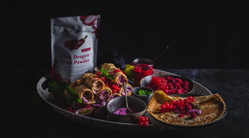 Dragon Fruit Crepes