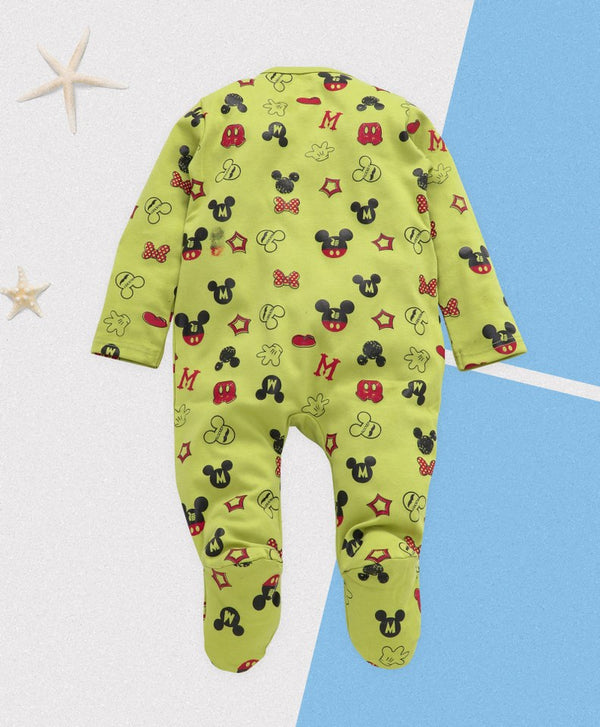 Royal Brats Full Bodysuit - Green Base  with Mickey Print