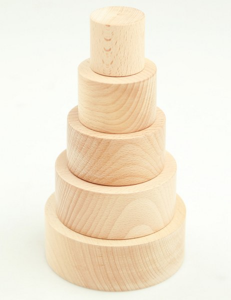 Wooden Nesting Bowls - Natural