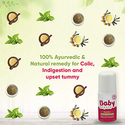 BabyOrgano Hing Roll On to Relieve Colic, Constipation and Indigestion in Infants and Kids
