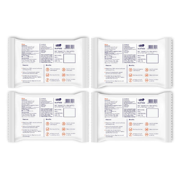 Kolan Sanitizing Wipes (Pack of 4)