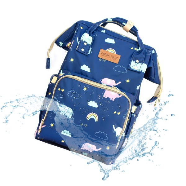 Baby Elephant Design Waterproof Multifunctional Babies Diaper Bag