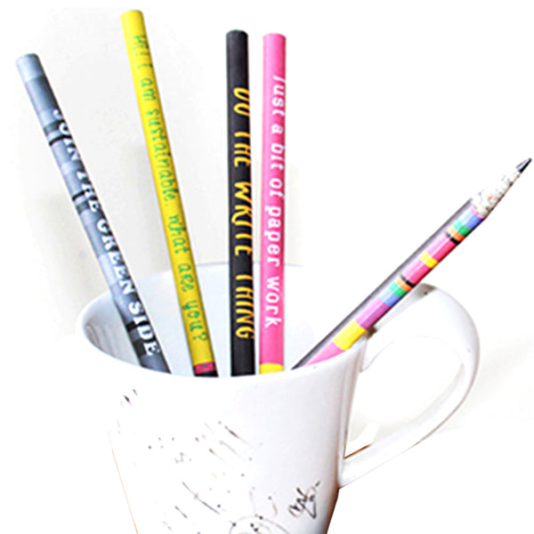 Upcycled Multicolor Newspaper Pencils (Pack of 5)