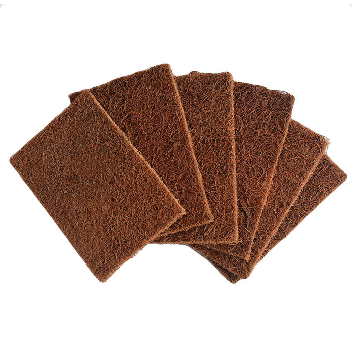 Natural Coconut Coir Dishwashing Scrub Pads - Combo Pack Of 12 Scrubs