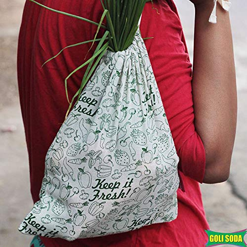 Keep It Fresh Reusable Cotton Vegetable Bag - Small (Pack Of 6)
