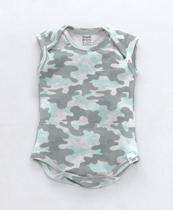 Royal Brats Unisex Camouflage Green/Grey Full Sleeve/sleeveless Body Suit