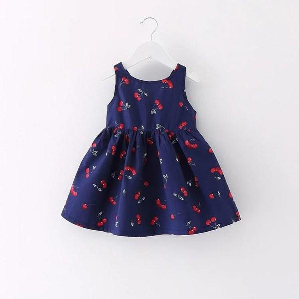 Cherry princess frock (Oxford Blue)