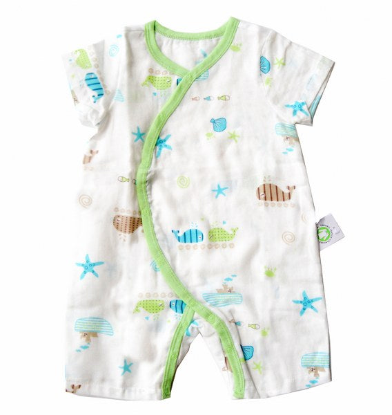 Under the Sea,Romper,Overlap Style,White