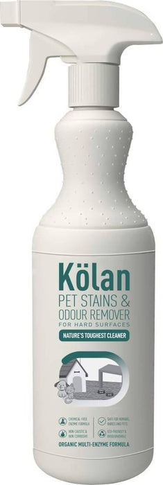Kolan Organic Pet Stains & Odour Remover for Hard Surfaces Suitable for All Water Safe Surfaces Including Marble, Granite, Laminate, 700 ml