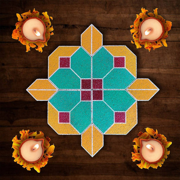 Rangoli Puzzle_The Drop (Pack of 8 pieces)