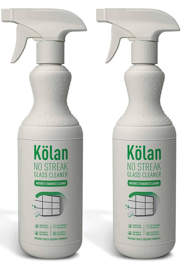 Kolan Organic No Streak Glass Cleaner (Suitable for all Surfaces including Appliances and Furniture)