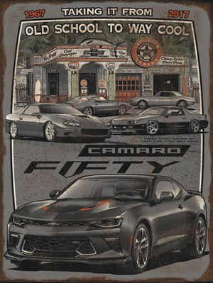 Epic Camaro Fifty-18x24 Metal Sign