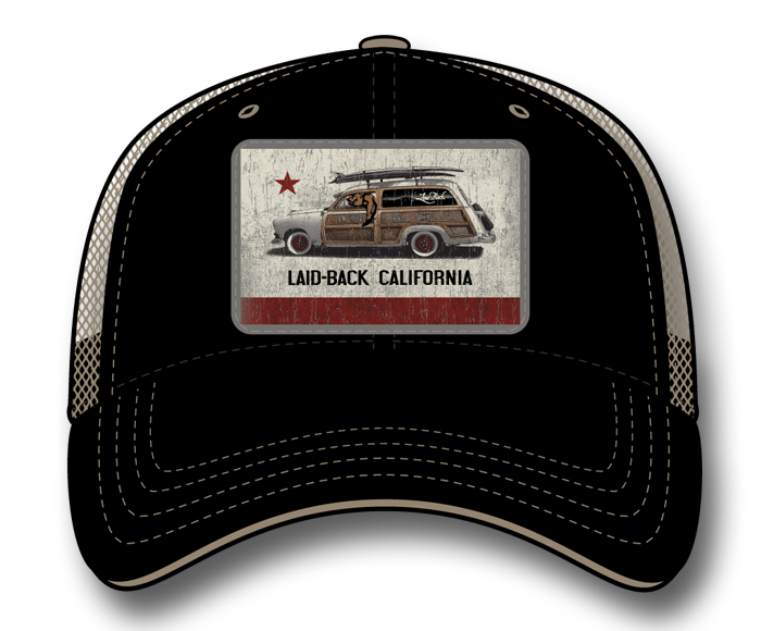 Cali Flag Woodie-Softee Trucker Hat