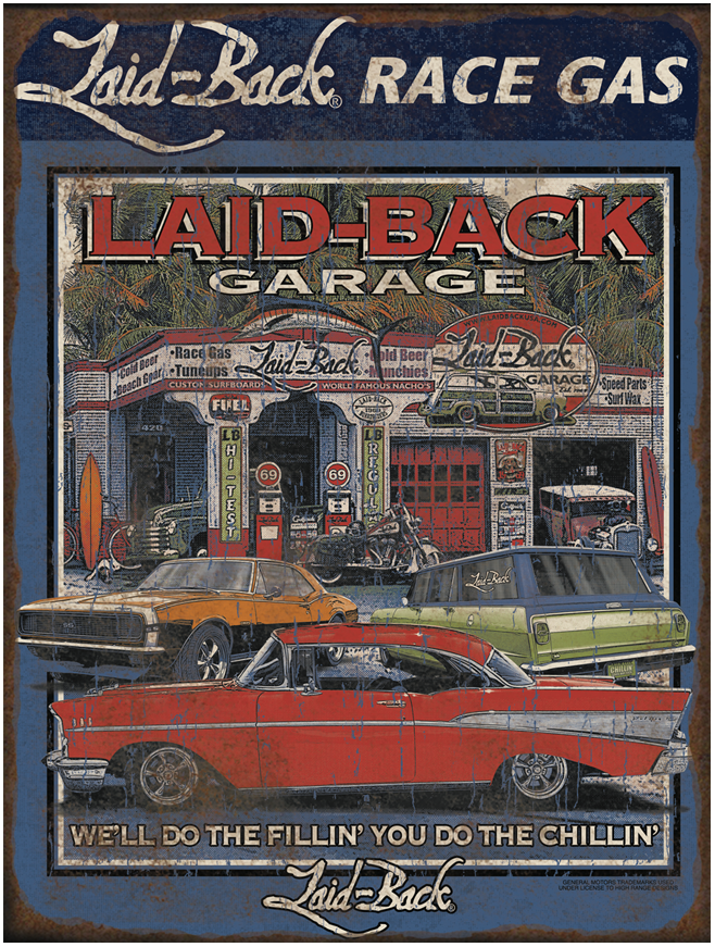 Epic Garage Chevy-12x16 Metal Sign