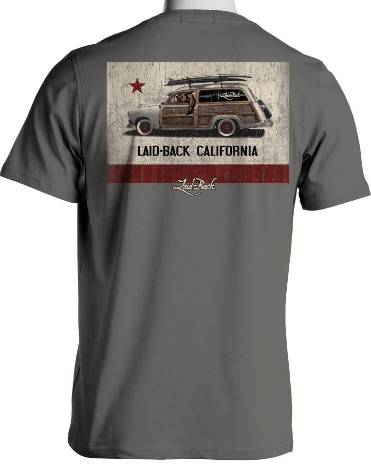 Cali Flag Woodie-Chill T-Shirt