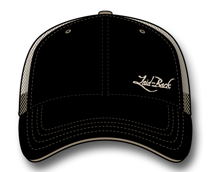 Simple Laid-Back Embroidered-Softee Trucker Hat