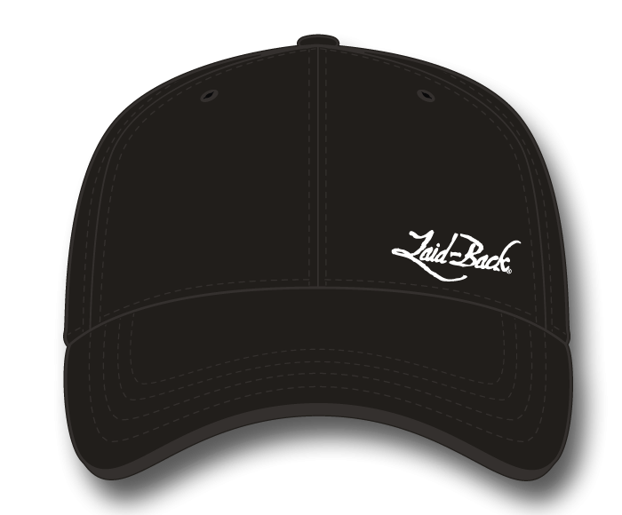 Simple Laid-Back Embroidered-Flex Hat-Black
