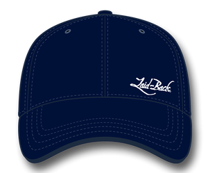 Simple Laid-Back Embroidered-Flex Hat-Navy