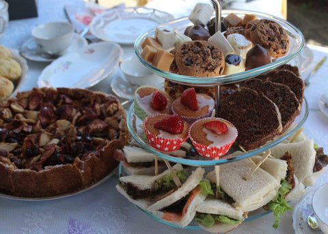 high tea scones and pastries