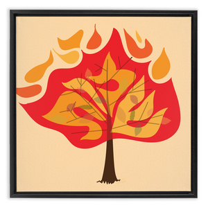 Shemos Burning Bush Framed Canvas Wrap
