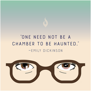"""One Need Not be a Chamber to be Haunted"" - Canvas Posters"