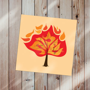Shemos Burning Bush Canvas Poster