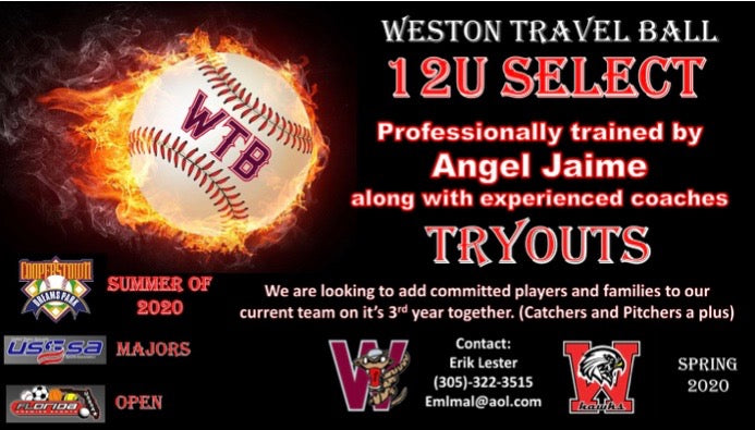 12U Select Tryouts