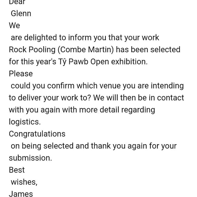 Ty Pawb Open competition selection!