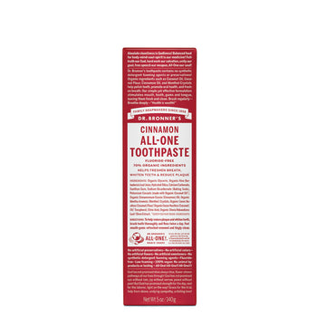 All-One Toothpaste Cinnamon 140ml Dr Bronners - Broome Natural Wellness
