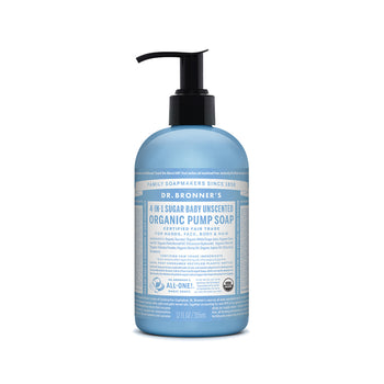 Baby Unscented 4in1 Pump Castile Liquid Soap 355ml Dr Bronners - Broome Natural Wellness