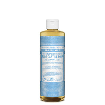 Baby Unscented Castile Liquid Soap 473ml Dr Bronner - Broome Natural Wellness
