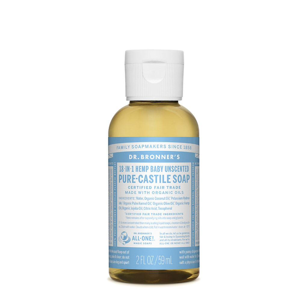 Baby Unscented Castile Liquid Soap 59ml Dr Bronners - Broome Natural Wellness