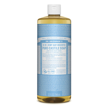 Baby Unscented Castile Liquid Soap 946ml Dr Bronners - Broome Natural Wellness