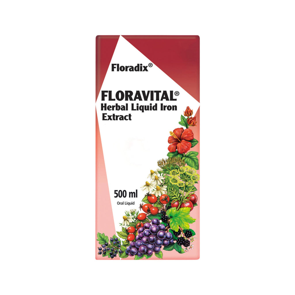 Floravital Herbal Iron Extract 500ml Floradix - Broome Natural Wellness