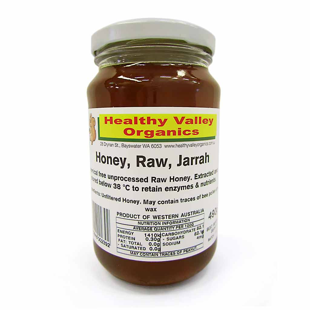Honey Raw JARRAH 490g Healthy Valley Organics - Broome Natural Wellness