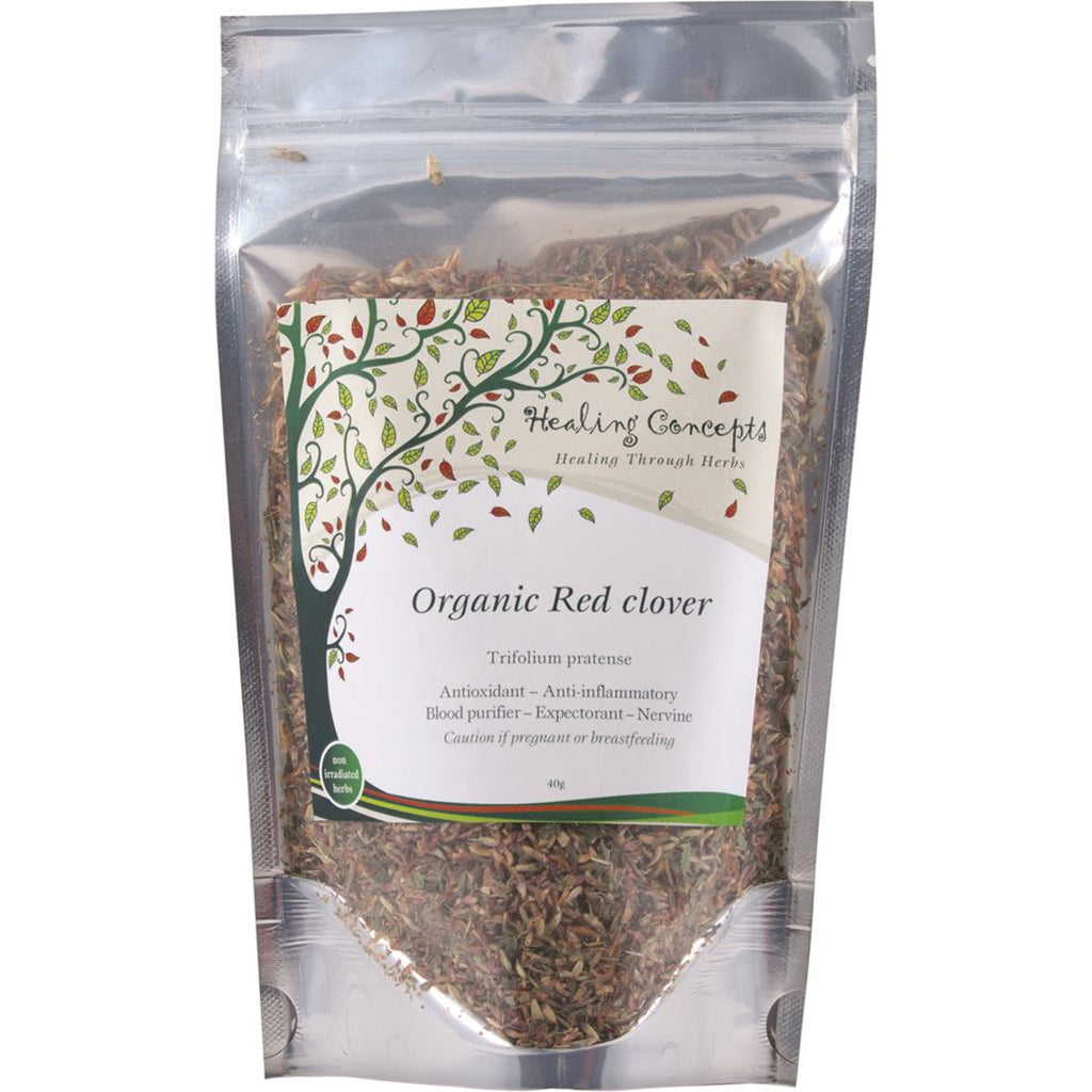Organic Red Clover Tea 40g  Healing Concepts - Broome Natural Wellness