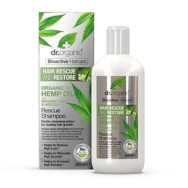 Hemp Oil Rescue & Restore Shampoo 265ml Dr Organic - Broome Natural Wellness
