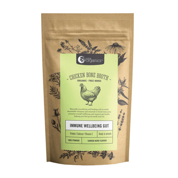 Chicken Bone Broth Garden Herb Powder 100g  Nutra Organics - Broome Natural Wellness
