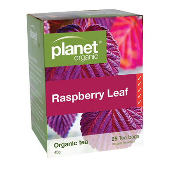 Raspberry Leaf Tea Organic 25 Bags Planet Organic - Broome Natural Wellness