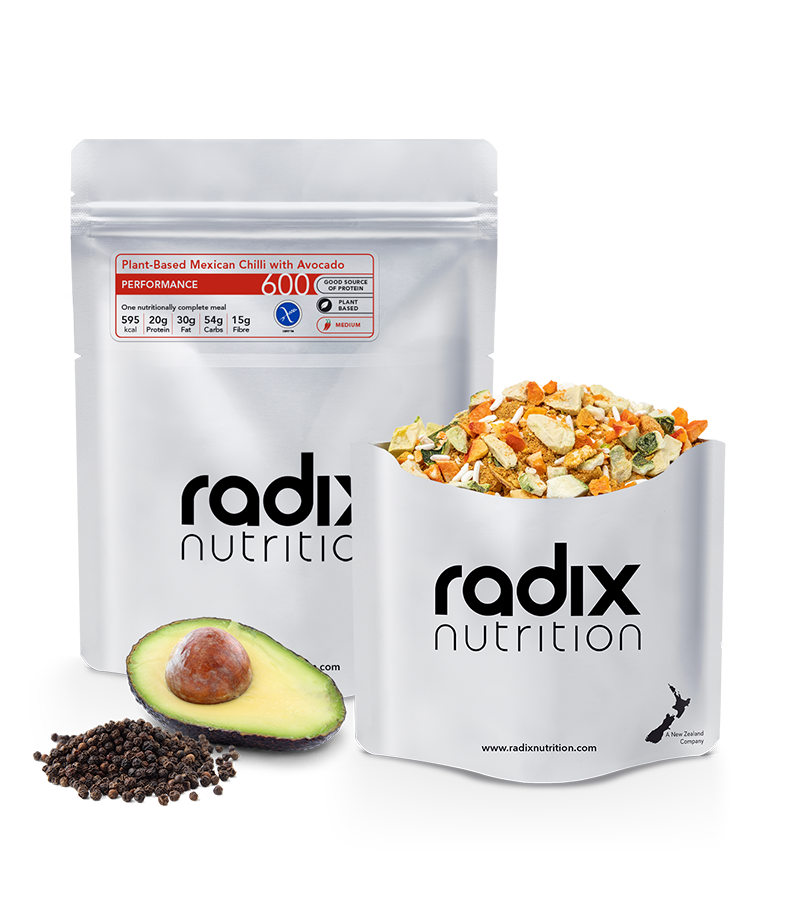 PERFORMANCE 600 Plant-Based Mexican Chilli with Avocado RADIX