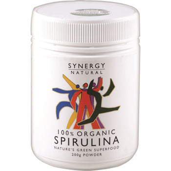 Spirulina Powder Organic 200g Synergy Natural - Broome Natural Wellness