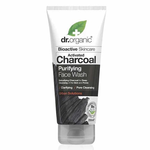 Activated Charcoal Face Wash 200ml Dr Organic - Broome Natural Wellness