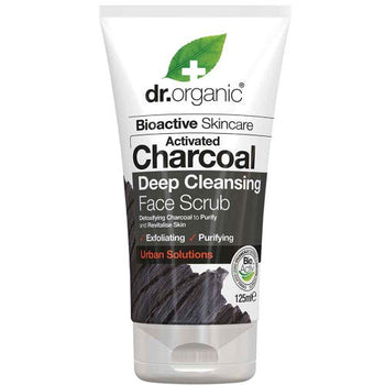 Activated Charcoal Face Scrub 125ml Dr Organic - Broome Natural Wellness