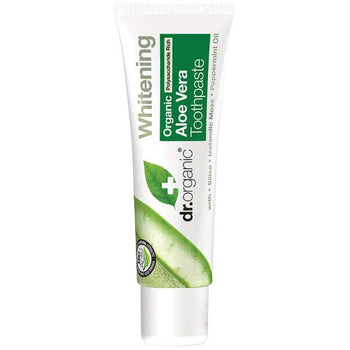 Aloe Vera Toothpaste (Mini) 20ml Dr Organic - Broome Natural Wellness