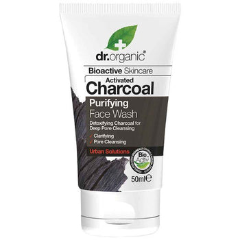 Activated Charcoal Face Wash (Mini) 50ml Dr Organic - Broome Natural Wellness
