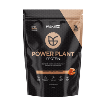 Power Plant Protein Salted Caramel 400g PranaOn - Broome Natural Wellness