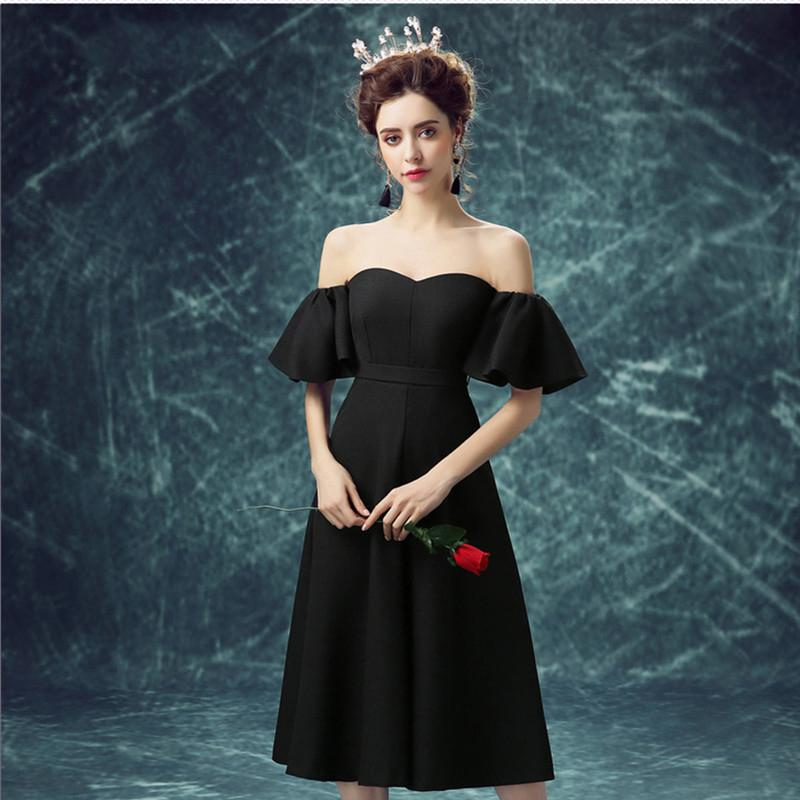 Beautiful Homecoming Dresses Little Black Dress Simple Prom Dress Party Dress JK586
