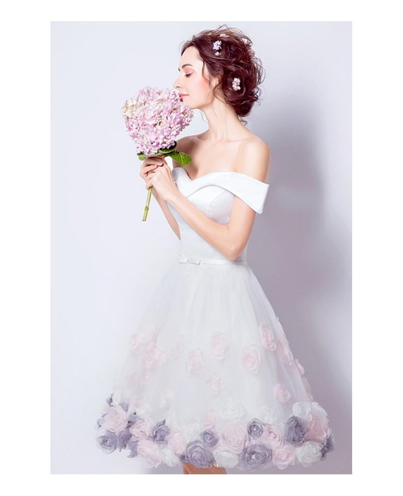 Beautiful Homecoming Dresses A-line Rose Floral Short Prom Dress Party Dress JK596