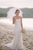 shirleydresses White Lace Mermaid Sweetheart Off Shoulder Beach Wedding Dresses boho wedding dress
