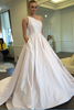 shirleydresses Shoulder Wedding Gown Satin Chapel Train Vestido de novia